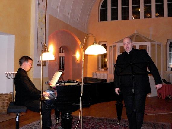 Sebastian Bluth (Bariton) und Frank- Immo Zichner (Klavier) | Foto: Friedrich Dimmling