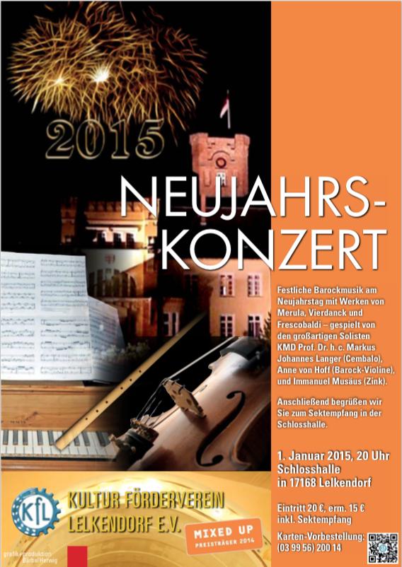 Neujahrskonzert 2015 Schloss Lelkendorf