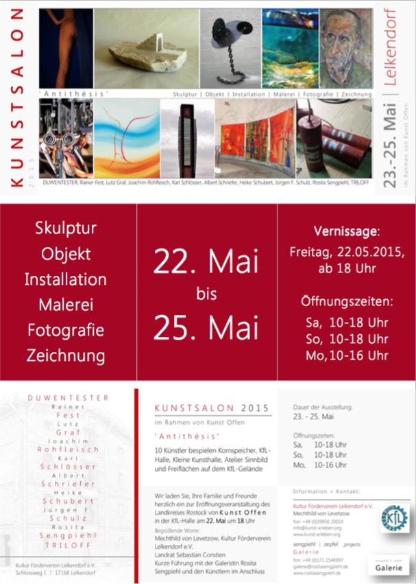 Kunst-Offen im Kunstsalon 2015 Lelkendorf